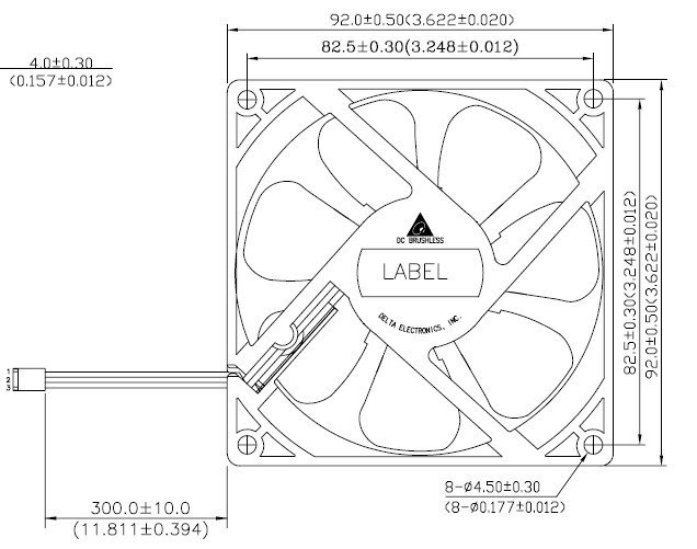 Asus Chassis Fan For As 795bto For Asus Cm1435 Battery Power