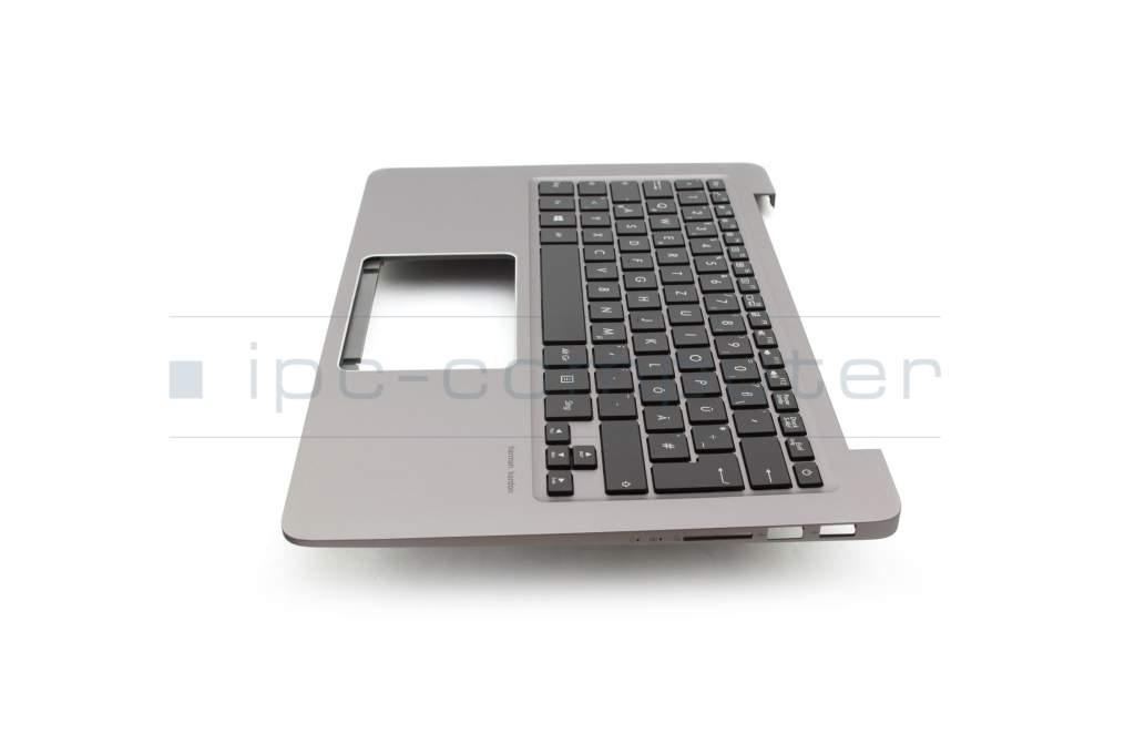 Keyboard incl  topcase DE (german) black/grey with backlight
